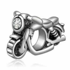 NEW•Silver 925 Motorcycle DIY charm/bead
